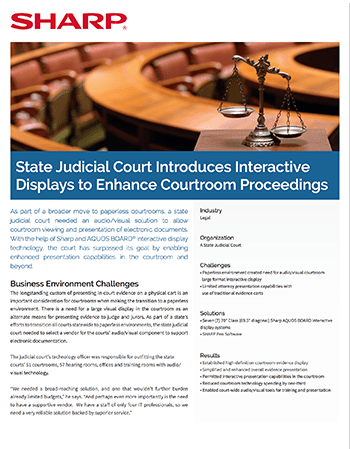 doc State Judicial Court CaseStudy
